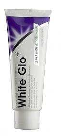 White Glo 2in1 Whitening Toothpaste with Mouthwash white glo 2in1 tuba